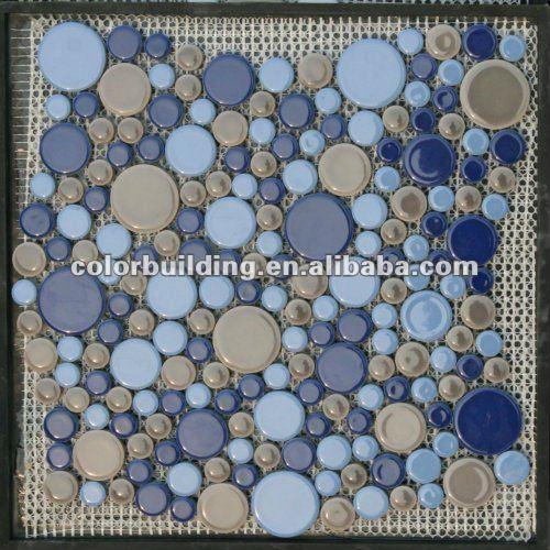 Decoracion Baño Azul:Mosaico de azulejos de cerámica baño decoración de la pared