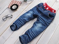 Джинсы для мальчиков New baby boy jeans/ pants Children cute cartoon images jeans, 1pcs/lot