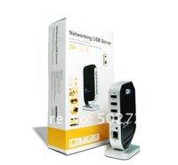 Сервер Latest 4-Port USB 2.0 100Mbps NetWork Networking Server Lan Share Sharing Print Server