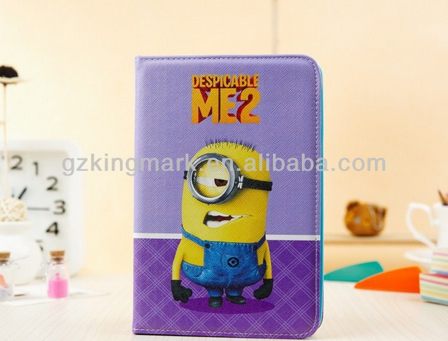 "7.9"" DESPICABLE ME MINION cute CARTOON stand leather case COVER FOR IPAD mini"