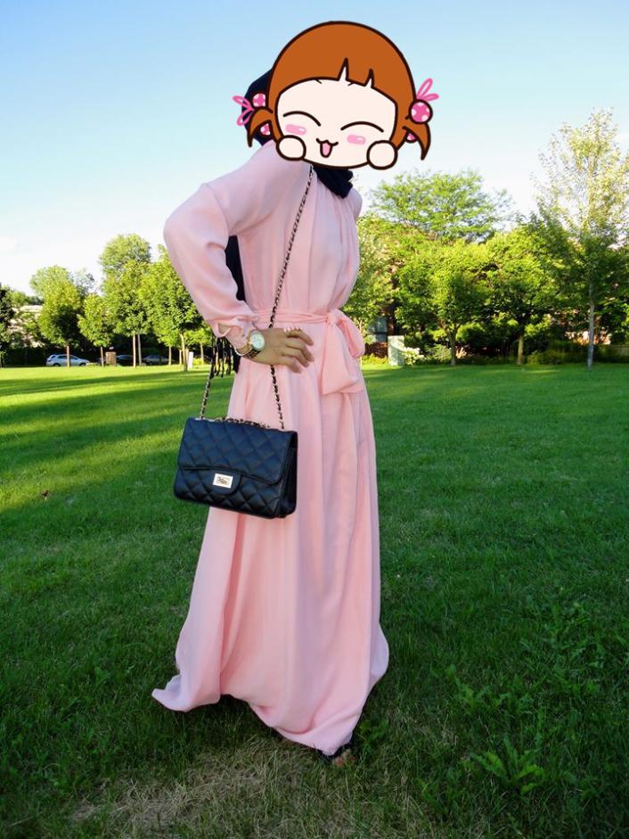 Платье длинное летнее с рукавами мусульманские