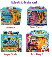 Hot-selling ! 4pcs /lots  Mixed model  electric  train track toy / electric plastic toys wholesale toys