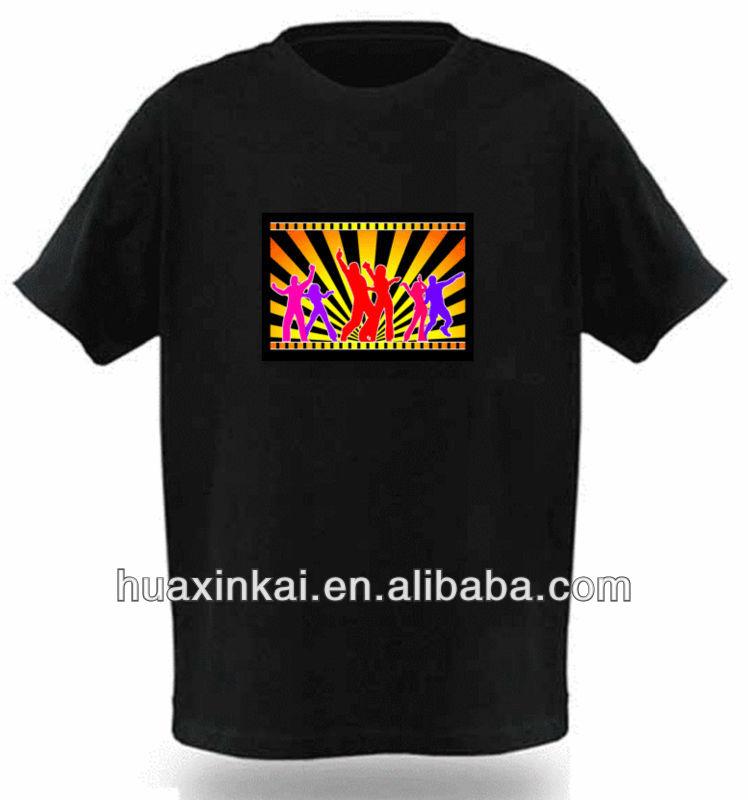 Fashion style led t-shirt led light t-shirtfor Music
