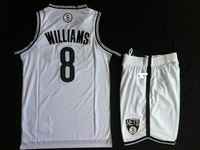 Мужская футболка для баскетбола 2013 Summer New Reverlution 30 Material Brooklyn 2 8 34 pierce garnett williams Swingman Basketball Jerseys Road Black S-XXXL