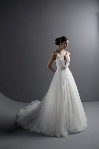 Goddess empire deep vneck vintage wedding dresses for bridal 2011