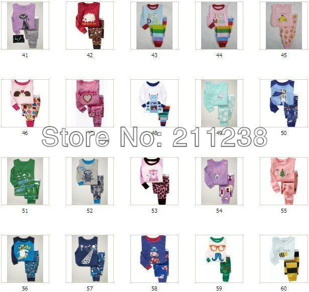 Pajamas-suits-Baby-Sleepwear-suits-Kids-long-sleeve-sets-Boys-and-Girls-suit-Many-styles-and