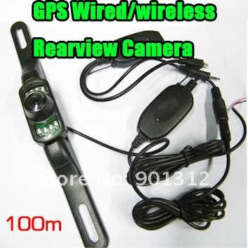 wireless long size Parking Rear view Car Camera Mount Night Vision Camera for GPS gift&free shipping