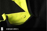 новые классические мужские летние футболку тонкий короткий рукав t рубашка двойным воротником Мужчины рубашка хлопок материал 6 тип качества