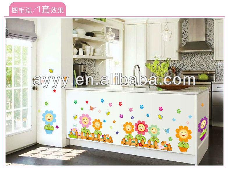 Ay7101 Flower Nursery Wall Sticker Adesivo Parede