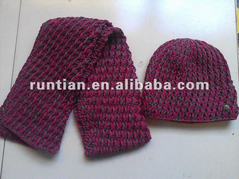 Alta calidad de tejer crochet bufanda del invierno de las mujeres