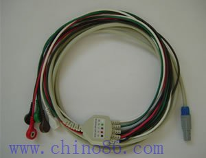 Creative one piece three lead ECG cable with leadwire