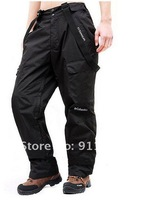 Мужская одежда для лыжного спорта Mens waterproof Ski Pant Men 2in1 detachable liner Mountaineering camping trousers