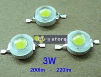 50pcs/lot реальной оригинальный чип epistar 3w светодиодные лампочки диоды лампа бисер 200lm-220lm белый/красный/желтый/синий/зеленый