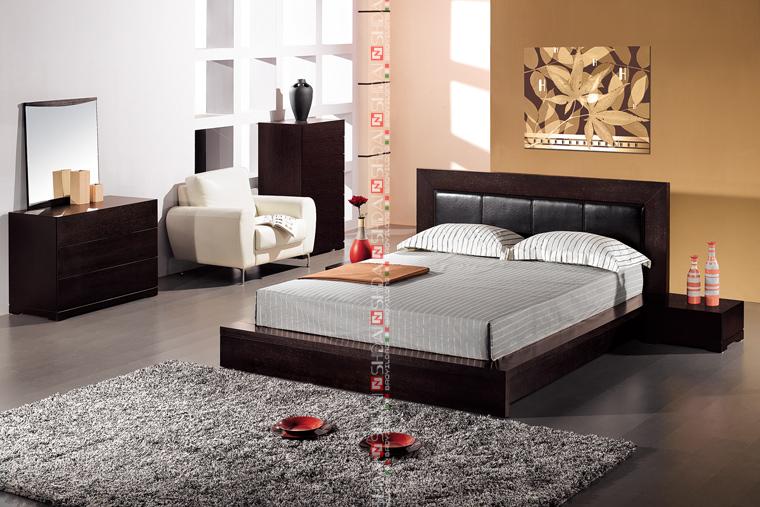 B76 New modèle chambre ensemble / conception simple en bois lit ...