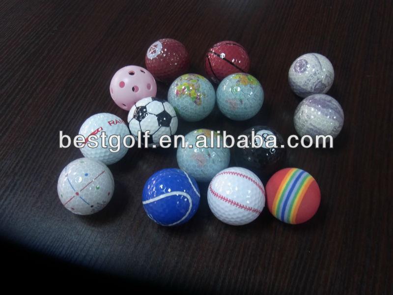 many hot sell golf gift ball, colorful custum design sports ball, art golf ball