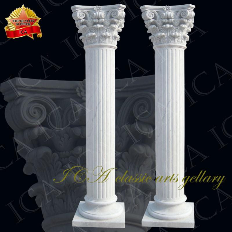 Roman Design Yellow Travertin Column Design Home