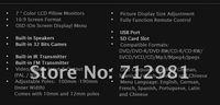 Free shipping 2X7 inch Headrest car DVD