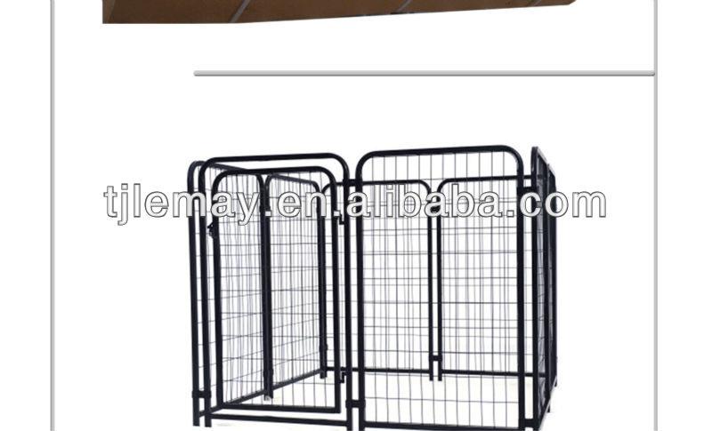 powder coated black metal dog house dog cage