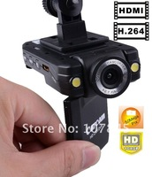 Free shipping HD1080P Car dvr K2000 with 140 degree wide angle lens and Night vision/270 Degree rotating screen(NC-K2000)
