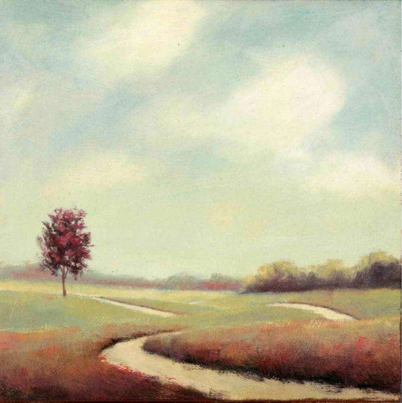 Impressionist grassland scenery art painting on canvas for Artworks landscape ltd