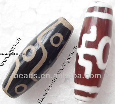 2015 Gets.com tibetan agate 10X30mm tibetan dzi beads