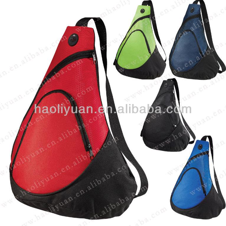 600D polyester Royal blue one strap 2013 sling bag