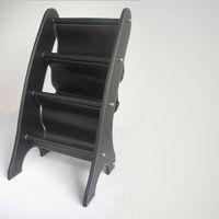 Держатели и Стойки для хранения 3 pocket leather portable magazine rack newsstand magazine holder for car accessory Black A049
