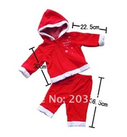 Комплект одежды для девочек children Christmas clothes baby Christmas suit polar fleece 2peice set