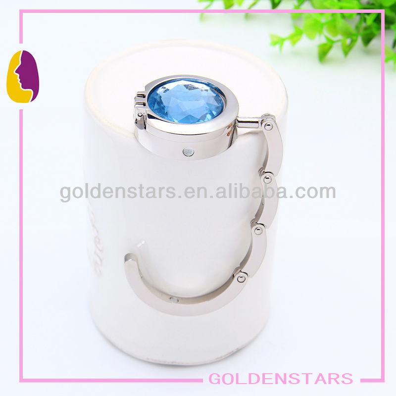 fashion folding crystal purse hooks with mirror (HH0210)