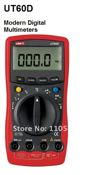RPM Tester Meter UT-60D Auto Ranging Handheld Digital Multimerers