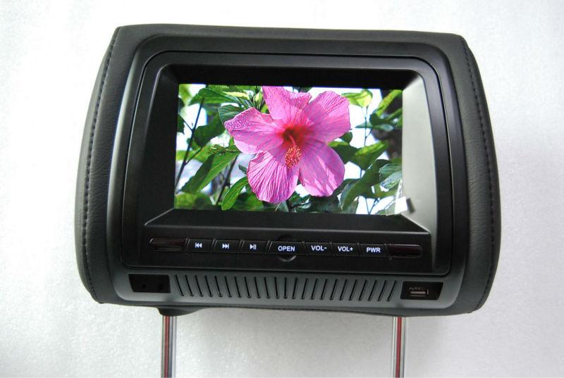IR transmitter headrest game player 7 inch touch screen car headrest dvd player for car