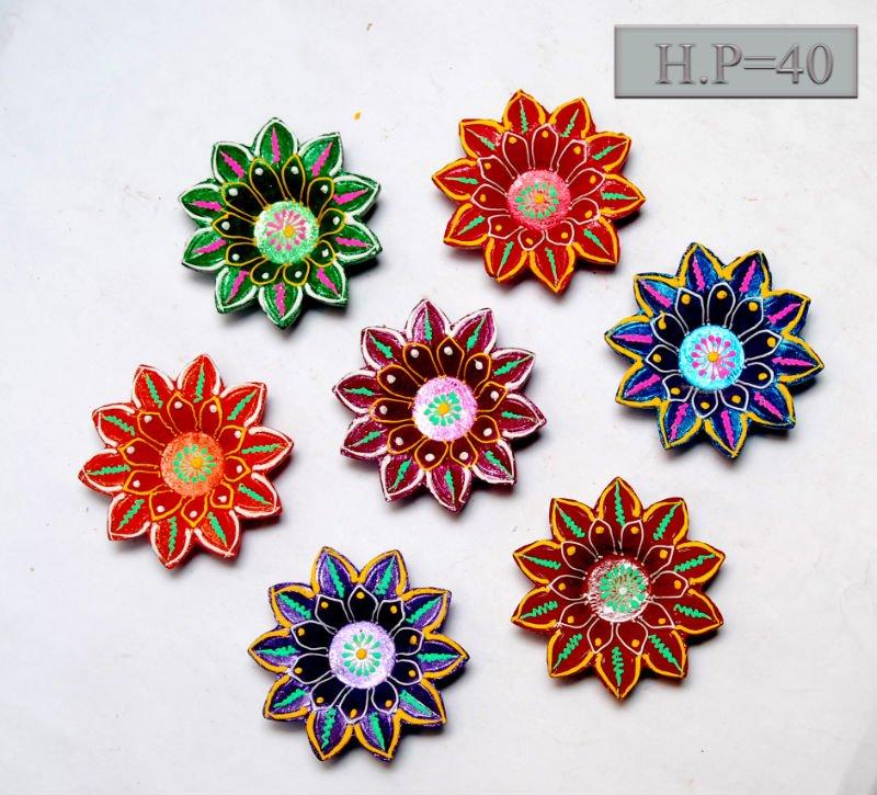 diyas diwali decorated diyas rangoli with diya diyas for sale ...