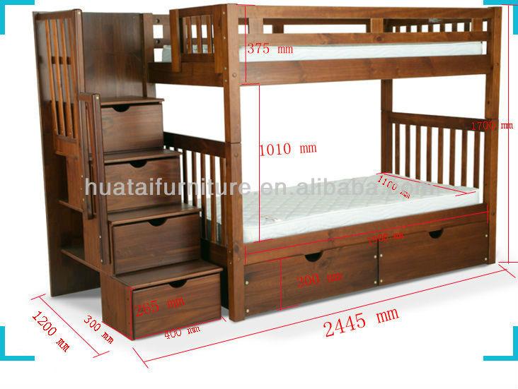 Flexível sólida madeira de pinho de beliche dos miúdos cama ...