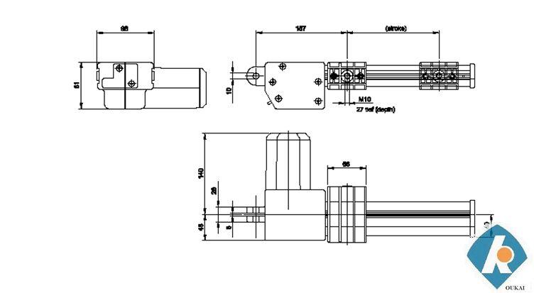 atuator okin moteur dc 12v mécanismeinclinable pour le sofa