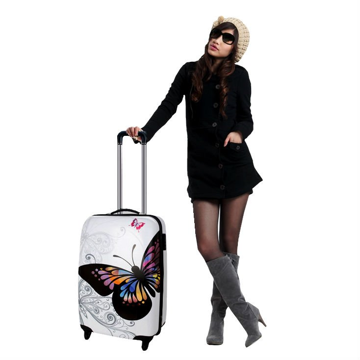 "Hardshell ABS+PC Trolley Case/Polycarbonate Luggage 20""/24""/28"" 3PCS"