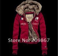 Женские толстовки и Кофты LC121] ladies' active hooded winter fur jackets hoodies & sweatshirts warm coat Size S, M, L, XL