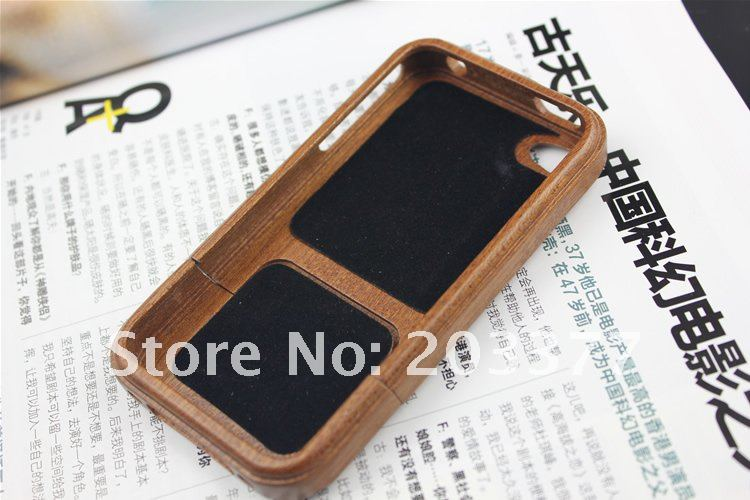 Free Shipping 10pcs/lot Wood case For iphone 4,wood/bamboo holder case for iPhone 4/4S,bamboo mobile cover+Drop Shipping