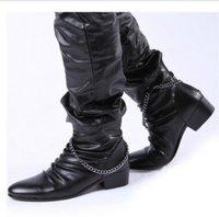тенденции моды издание Хань Англии указал высокий помочь человек Ботинки Сапоги короткие сапоги