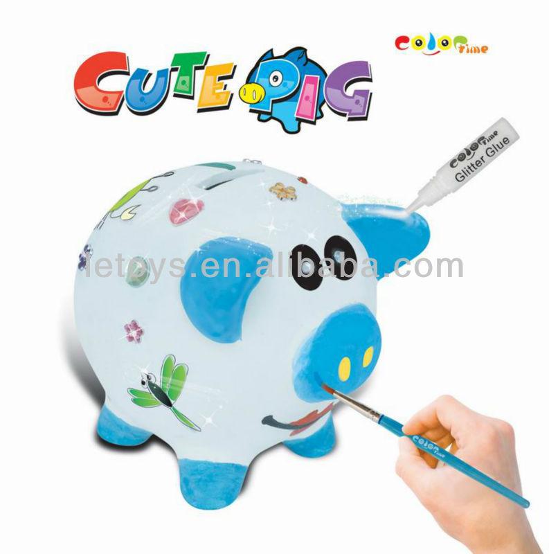 DIY Painting Ceramic Pig Coin Bank