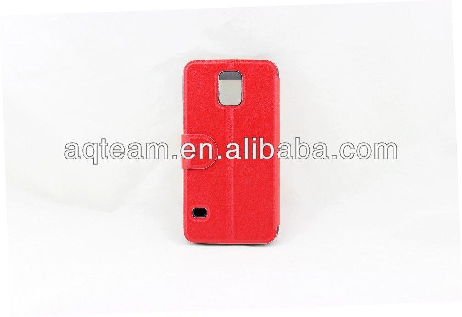 Business Series Smart Wake Sleep Flip PU Leather Cover For samsung galaxy S5 i9600