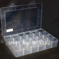 Electronic Components Storage Box, 24 lattice/blocks Large-space, moveable clapboard,Component Parts Box, free shipping#1183