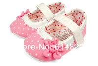 Free shipping baby prewalker shoes,first walkers,pink sunflower,infant casual shoes,baby shoes