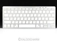 1шт белый 2,4 ГГц ultra slim bluetooth беспроводная клавиатура Клавиатура для apple и windows pc 80431