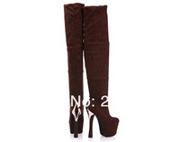 2012 autumn winters female boots two wear tall canister boots waterproof table ultra-high had been with knee boots boots