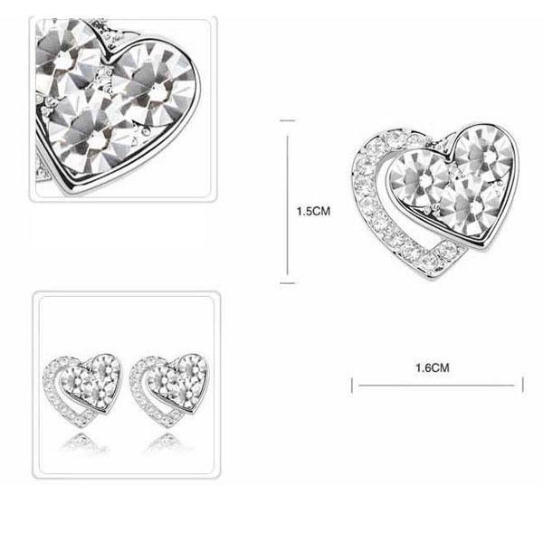 Heart Earrings Studs Heart Earring Studs With
