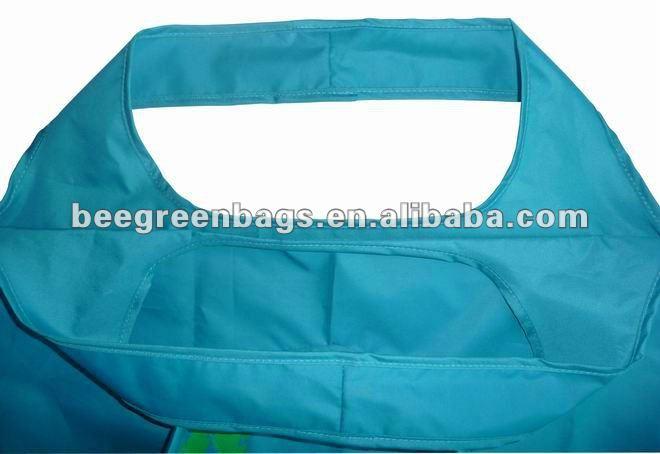 190Tpolyester cute shape drawstring foldable shopping bag