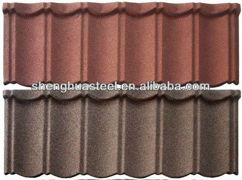 Stone coated steel roofing tiles for houses