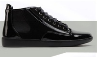 Мужские ботинки 2013England fashion leisure fashion high heel shoe polish splicing casual shoes men's shoesMartin with leisure