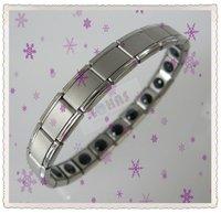 Браслет из нержавеющей стали Anion Energy Bracelet 20 big germaniums stainless steel material Healthy Bracelets SR-003c 50pcs