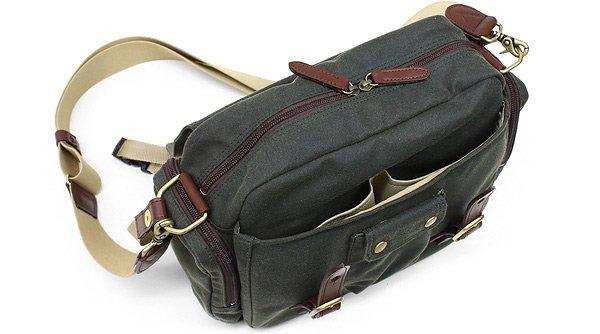 Waxed Cotton Shoulder Bag 88